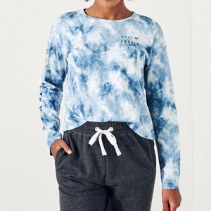 Hollister Blue Marble Long Sleep Top